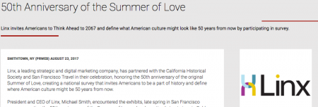 Summer of Love Press Release Featured on PR Web